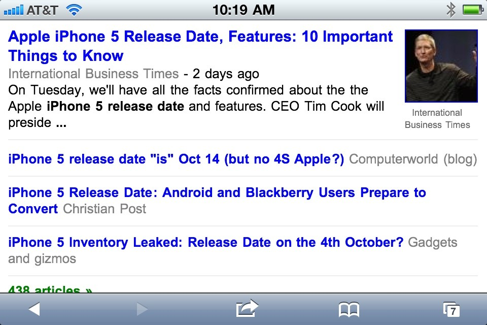 Could it be true? A late 2011 release date for a new iPhone 5? I can't wait! 18 months after the iPhone 4 made its debut to record sales, could an iPhone 5 shatter that mark?